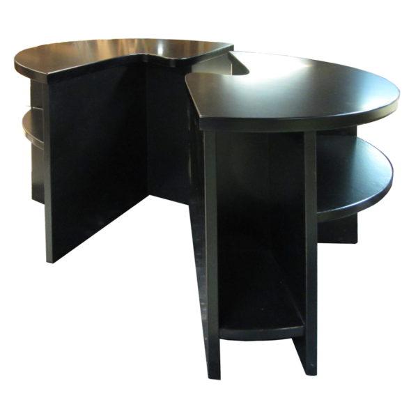 ronde tweedelige salontafel