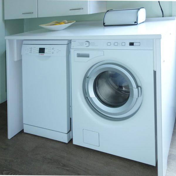 Ombouw wasmachine en vaatwasser