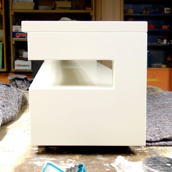 tv meubel wit gespoten